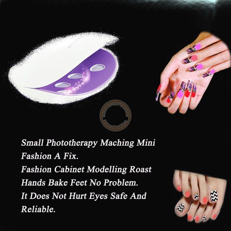 Mini LED UV lampa pro gelové nehty