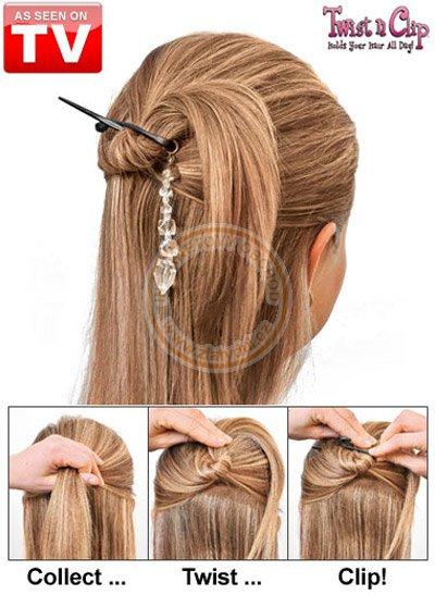Sada spon do vlasů Twist n Clip   Domácí potřeby 9d9103c43d
